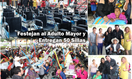 Festejan Día del Adulto Mayor y Entregan 50 Sillas